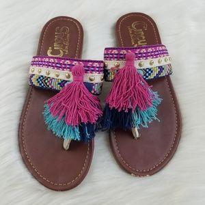 Sam Edelman Circus Tassel Sandals size 7
